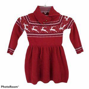 Tahari Girls Holiday Sweater Dress 4T